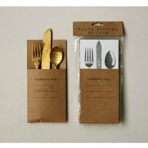 THANKFUL PLACE SETTING SILVERWARE HOLDER