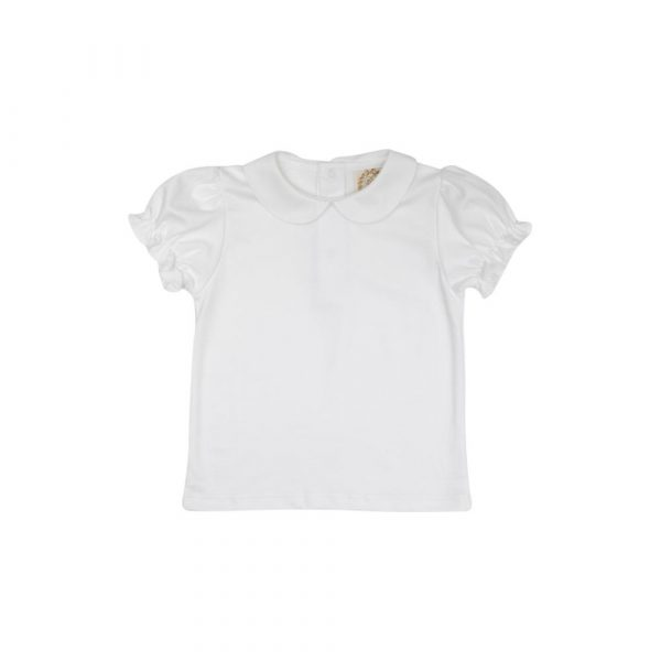 THE BEAUFORT BONNET COMPANY MAUDES PETER PAN COLLAR SHIRT - WORTH AVE WHITE