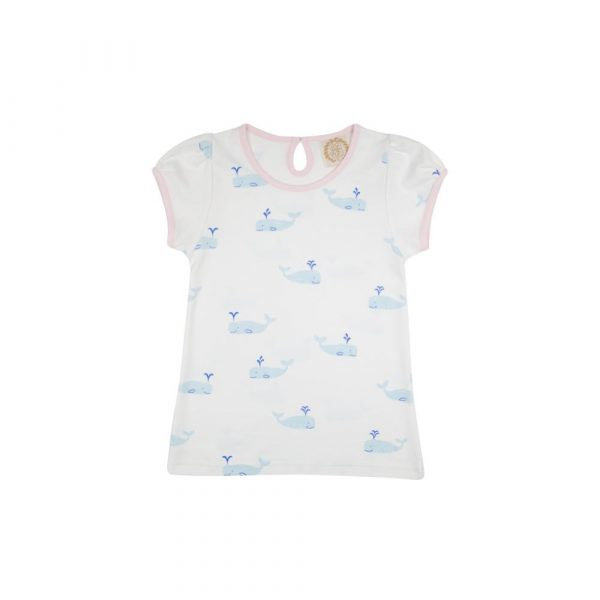 THE BEAUFORT BONNET COMPANY PENNY'S PLAY SHIRT - YOU'RE WHALECOME
