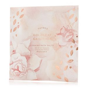 THYMES GOLDLEAF GARDENIA BATH SALTS ENVELOPE