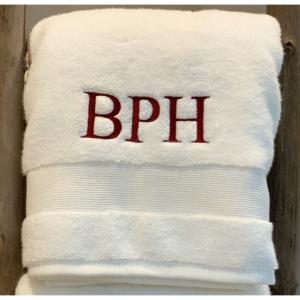 TIMES NEW ROMAN MONOGRAMMED BATH TOWEL