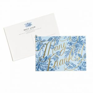 TOILE THANK YOU POSTCARD SET