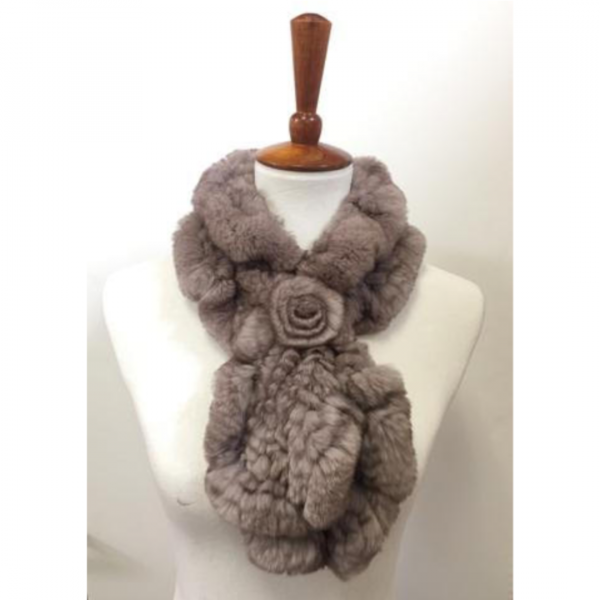 TOURANCE RABBIT FUR SCARF