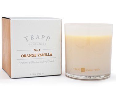 TRAPP FRAGRANCES ORANGE VANILLA CANDLE