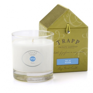 TRAPP FRAGRANCES WATER CANDLE