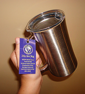 TRUE NORTH STAINLESS STEEL BEER STEIN