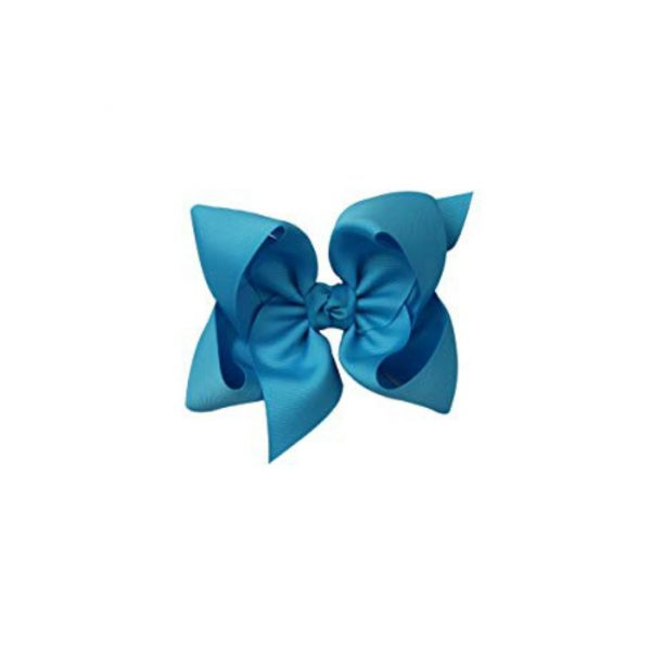 TURQUOISE BOW ON CLIP