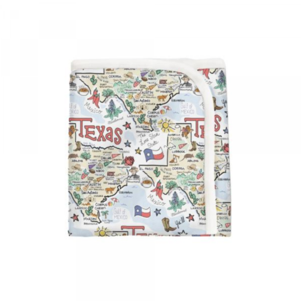 TX MAP BABY BLANKET