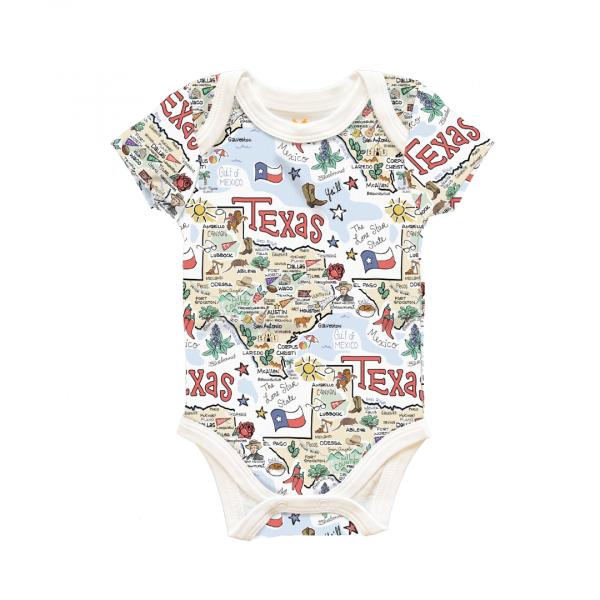 TX MAP BABY ONESIE