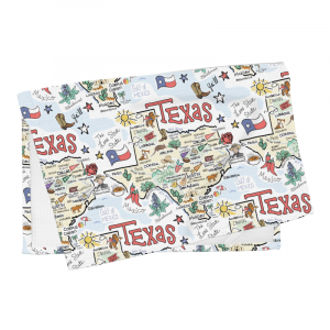 TX MAP TEA TOWEL