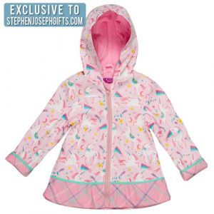 STEPHEN JOSEPH UNICORN RAIN COAT