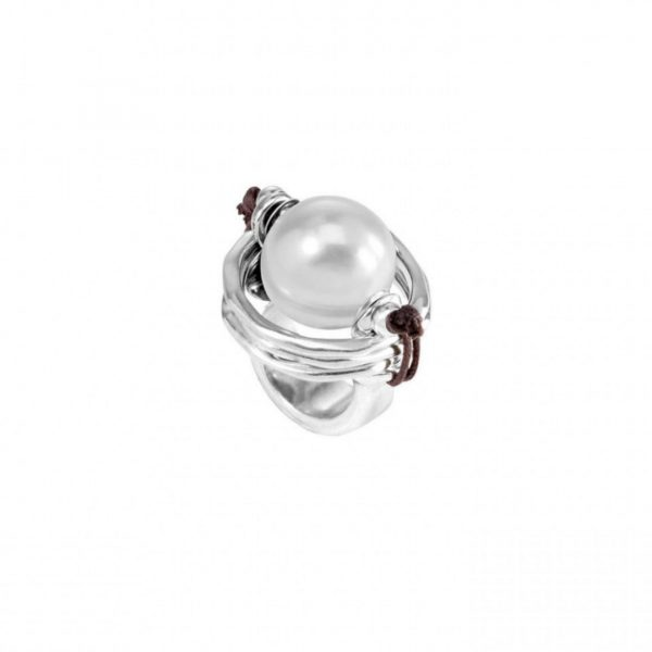 UNO DE 50 A PEARL OF WISDOM RING IN SILVER