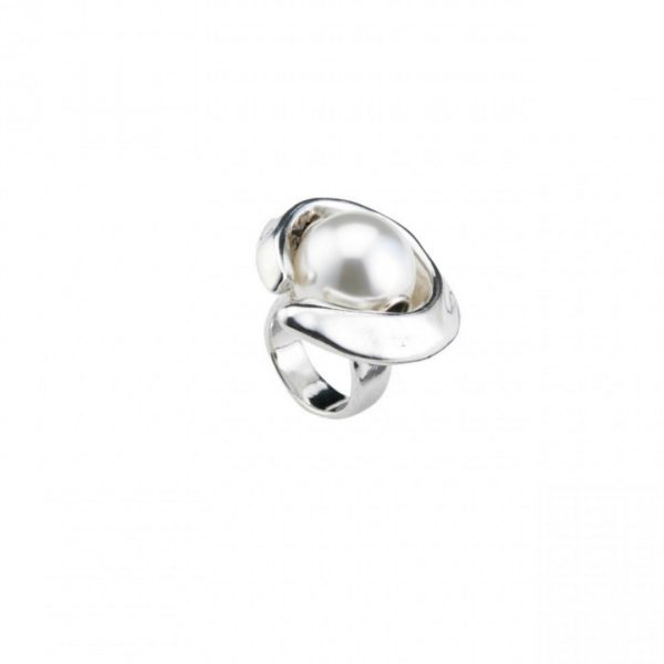UNO DE 50 HALF MOON RING IN SILVER