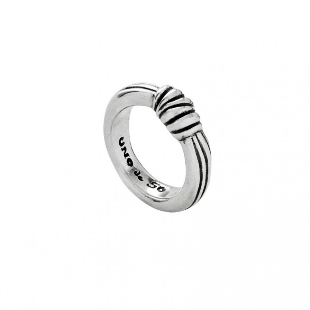 UNO DE 50 KNOT KNOT RING IN SILVER