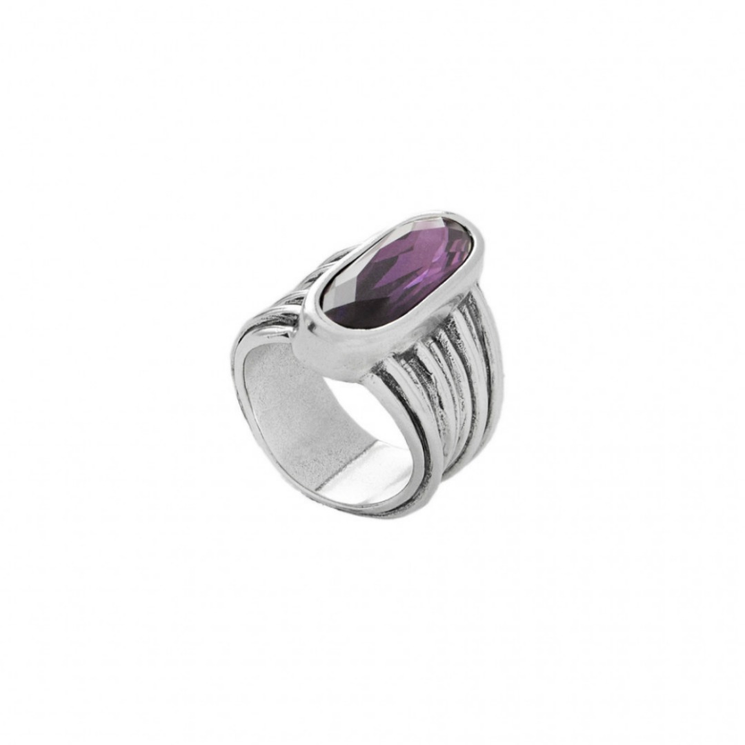 UNO DE 50 LOOPING RING IN AMETHYST