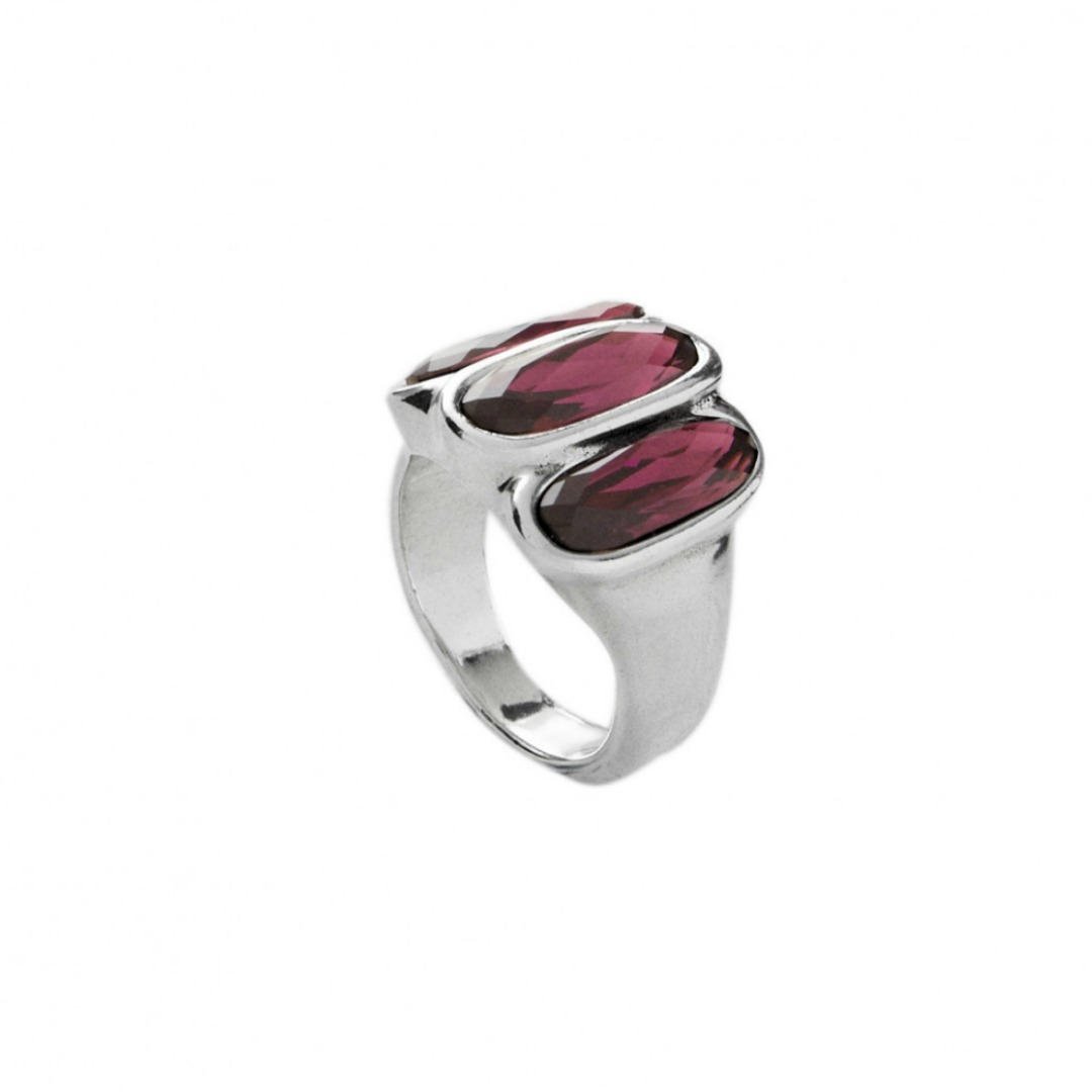 UNO DE 50 STRONGER RING IN AMETHYST