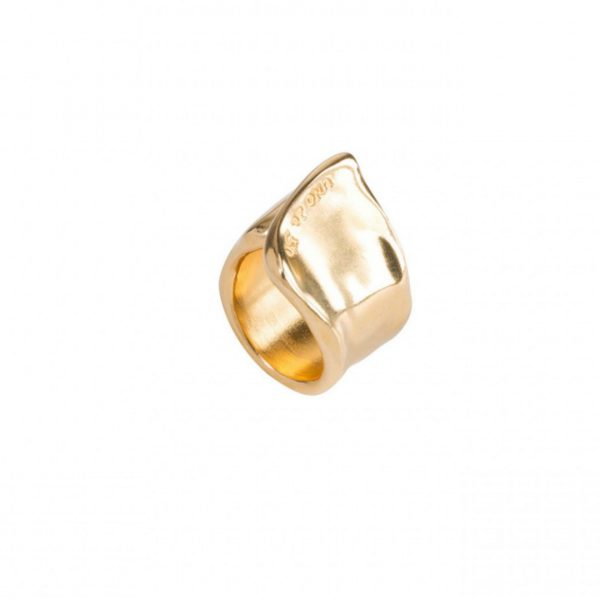 UNO DE 50 THE CREVICE RING IN GOLD