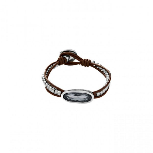 UNO DE 50 THE TRIBE BRACELET IN GREY
