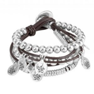 UNODE50 WHAT A MESS LEATHER BRACELET