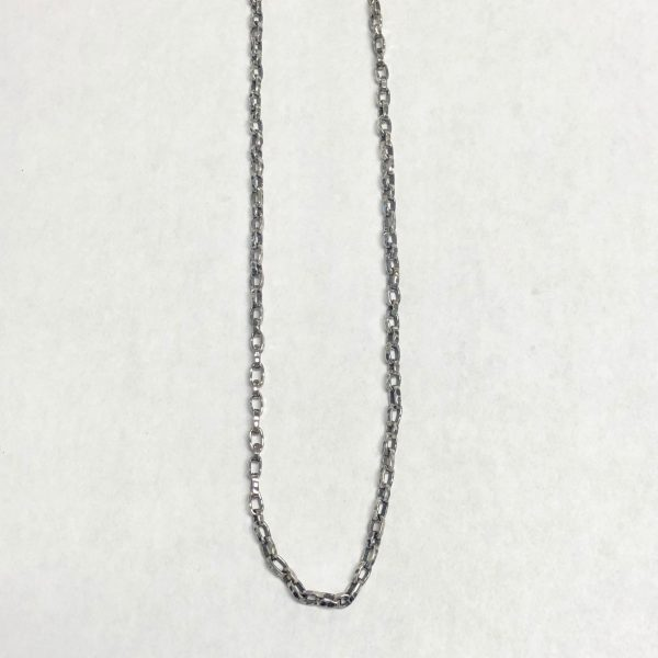 """WAXING POETIC 18"""" HAMMERED CABLE CHAIN"""