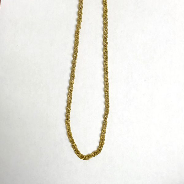 "WAXING POETIC 18"" LARGE TWISTED LINK CHAIN"