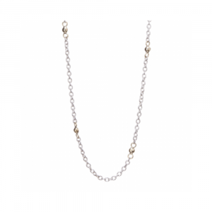 """WAXING POETIC 18"""" THIN CABLE WITH BRASS BEADS CHAIN"""