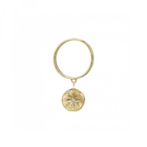 WAXING POETIC AXIOM DANGLE RING COMPASS