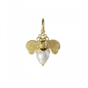WAXING POETIC BEE BRAVE GOLDEN HONEYPEARL CHARM