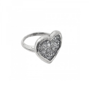 WAXING POETIC GUIDED BY HEART RING IN STERLING SILVER