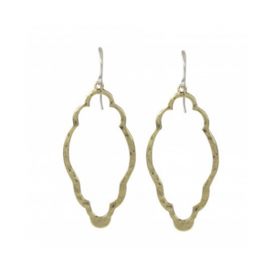 WAXING POETIC OPEN UP CLOVER EARRINGS IN BRASS