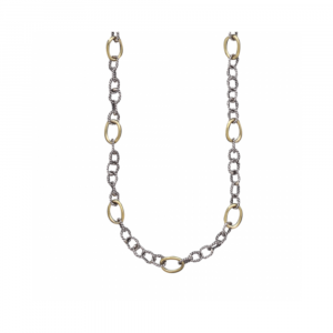 WAXING POETIC TWISTED LINK WITH BRASS RINGS CHAIN - 20""