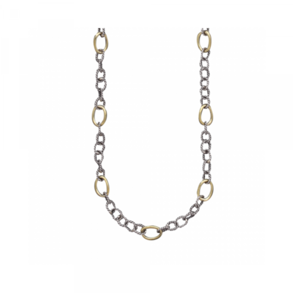 """WAXING POETIC TWISTED LINK WITH BRASS RINGS CHAIN - 30"""""""
