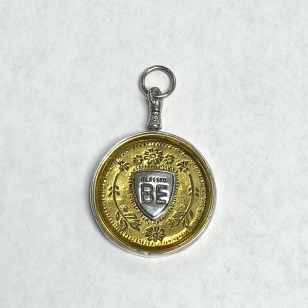 WAXING POETIC YOUR HEART IS YOUR MAP MEDALLION - BLESSED BE CHARM