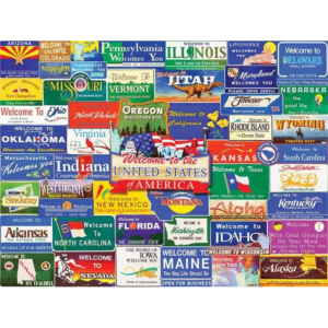 WHITE MOUNTAIN PUZZLES WELCOME TO AMERICA PUZZLE