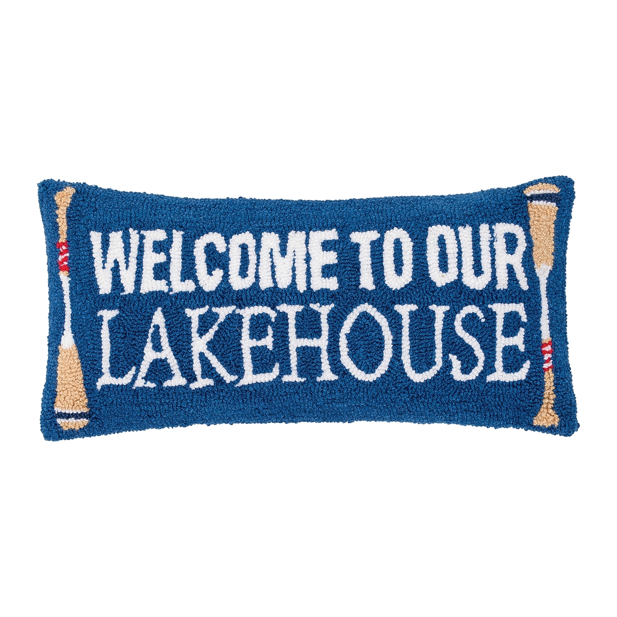 WELCOME TO OUR LAKEHOUSE HOOK PILLOW