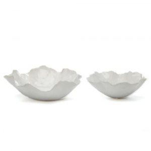 WHITE FREEFORM CERAMIC BOWLS
