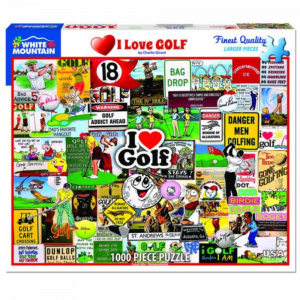 WHITE MOUNTAIN PUZZLES I LOVE GOLF PUZZLE