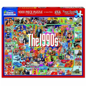 WHITE MOUNTAIN PUZZLES THE NINETIES 1,000 PIECE