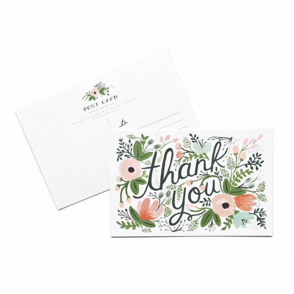 WILDFLOWER THANK YOU POST CARDS