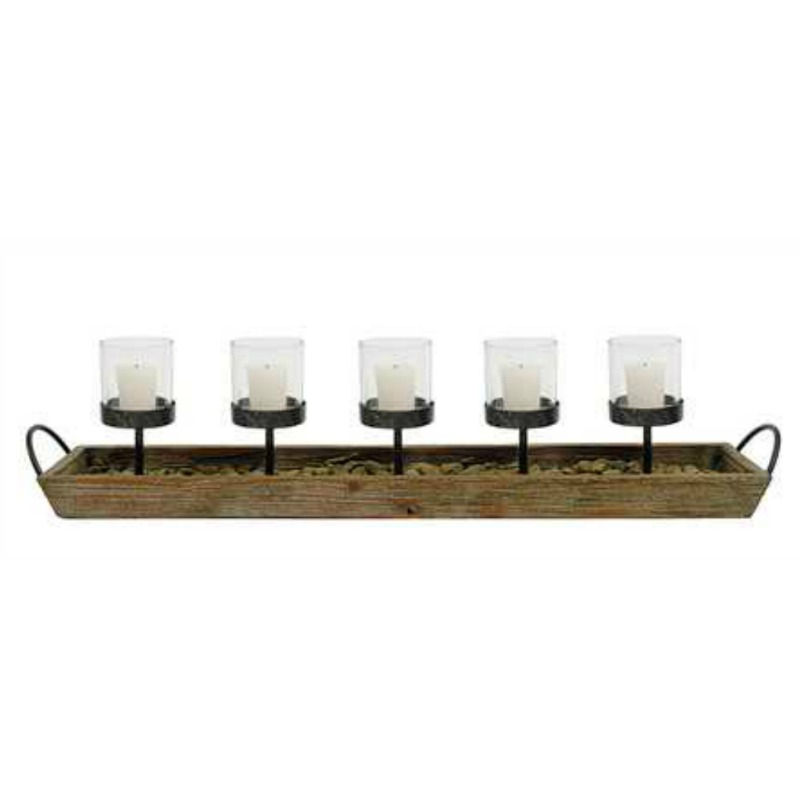 WOOD CANDLE BOX HOLDER