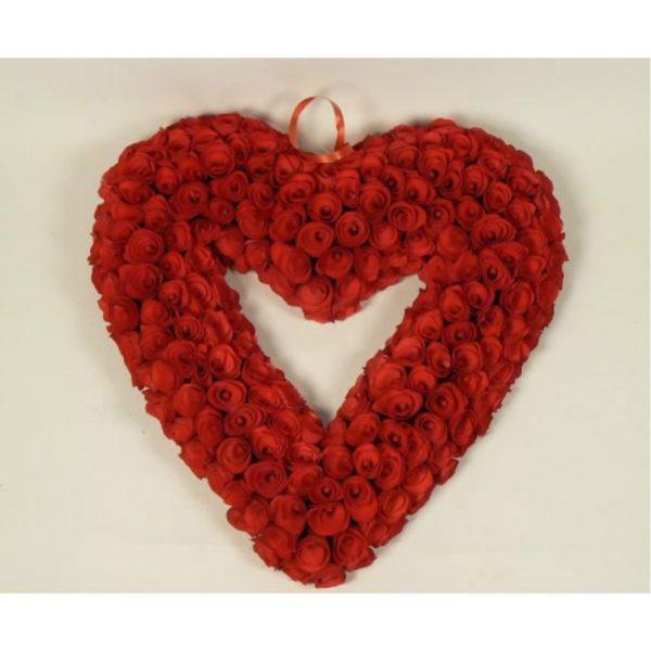 WOODCHIP HEART WREATH