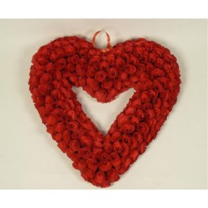 WOODCHIP HEART WREATH - 19""