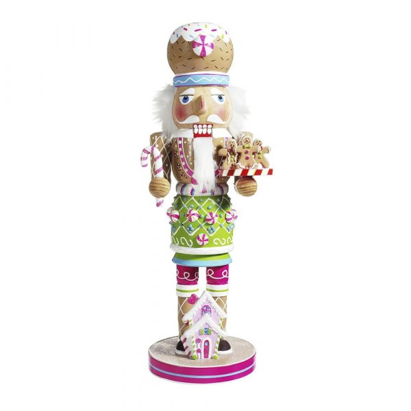 WOODEN GINGERBREAD NUTCRACKER