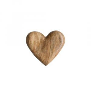 WOODEN HAND CARVED HEART