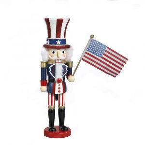 WOODEN UNCLE SAM NUTCRACKER