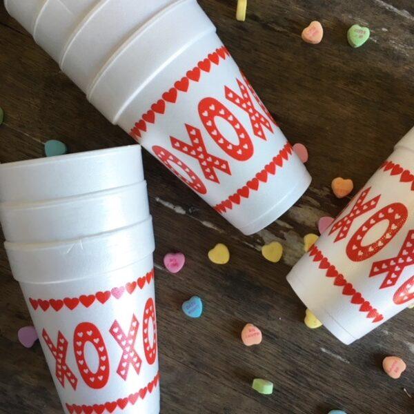 XOXO SASSY STYROFOAM CUPS