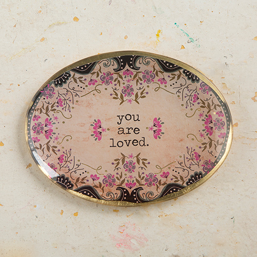 YOU ARE LOVED OVAL GLASS TRAY