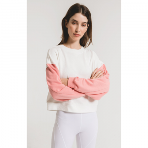 Z SUPPLY THE CORAL COLORBLOCK SWEATSHIRT
