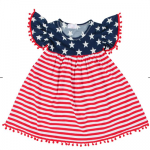 4TH OF JULY POM POM DRESS