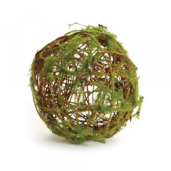 """6"""" MOSS WRAPPED TWIG ORB"""